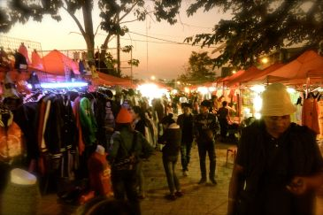 Night Market by the Riverside